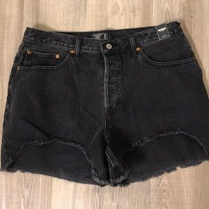Never worn, Abercrombie high rise shorts